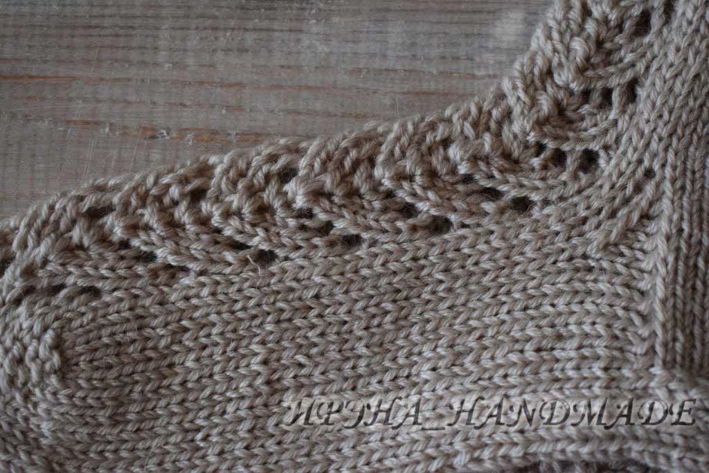 Вязание носочков с ажуром - схема узора