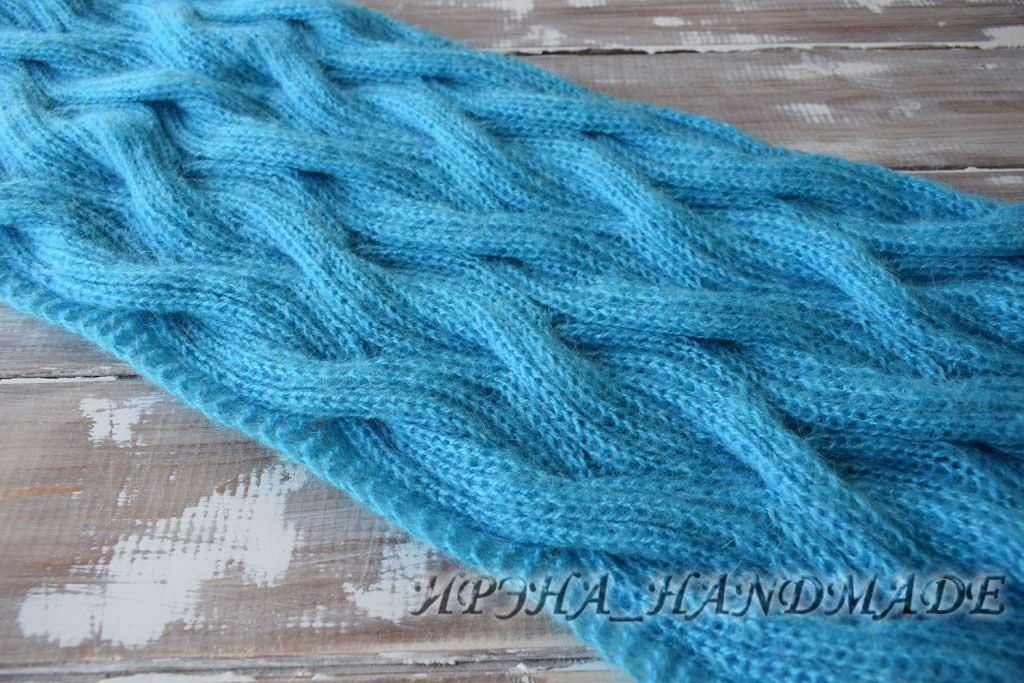 бирюзовый шарф - начало