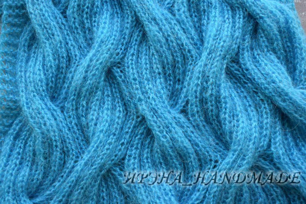 Бирюзовый шарф - узор