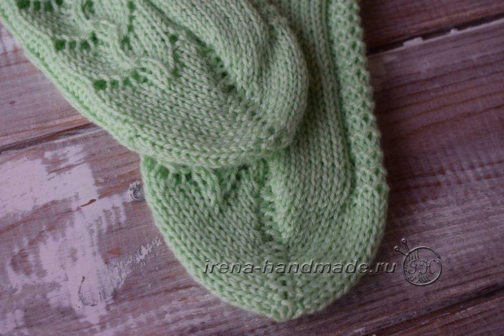 Ажурные носки с узором «Ручеек» - мысок 1