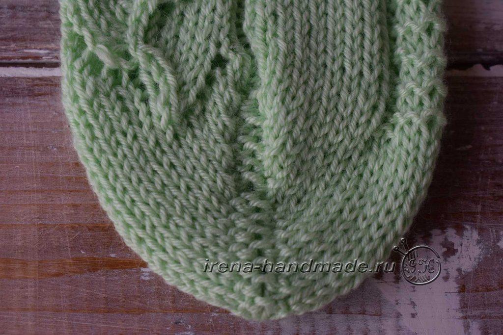 Ажурные носки с узором «Ручеек» - мысок