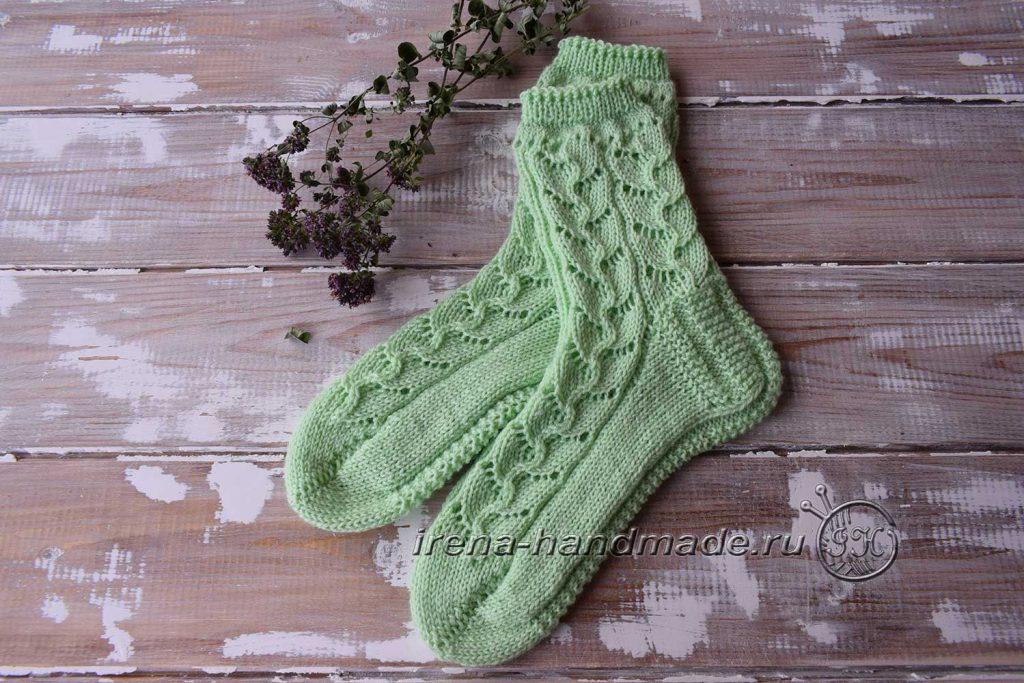 Ажурные носки с узором «Ручеек» - основное фото