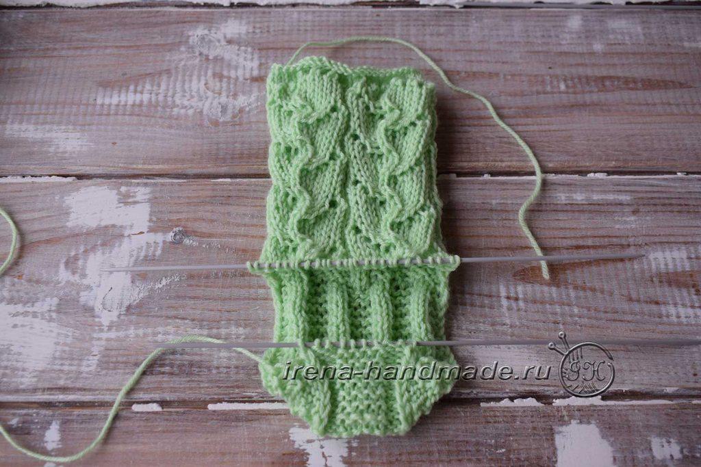 Ажурные носки с узором «Ручеек» - пятка 2
