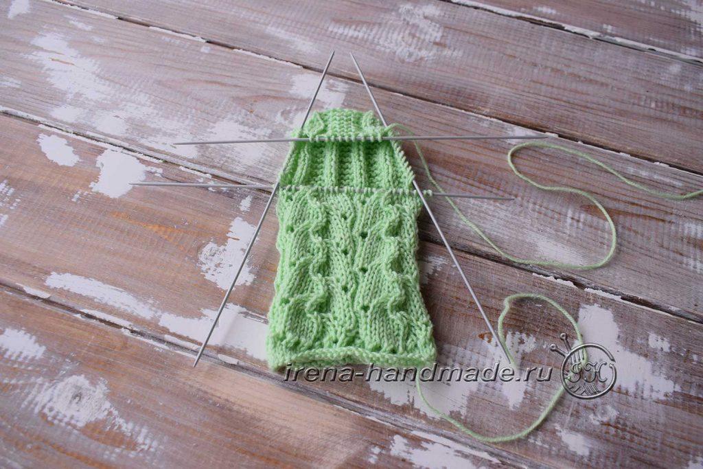Ажурные носки с узором «Ручеек» - пятка 3