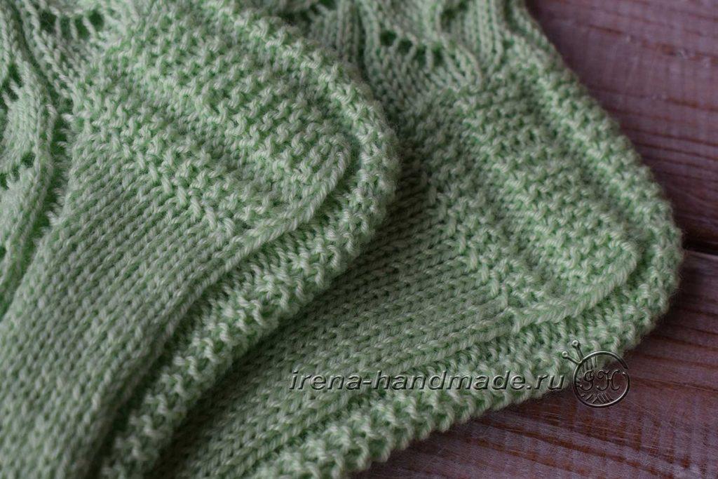 Ажурные носки с узором «Ручеек» - пятка 4