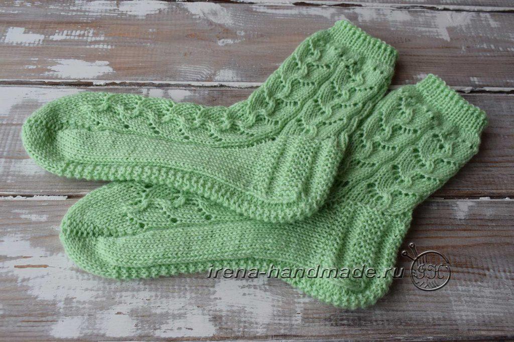 Ажурные носки с узором «Ручеек» - влажно-тепловая обработка