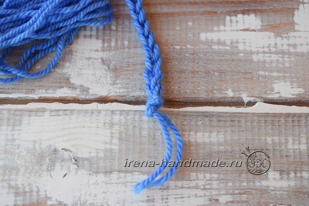 Как сделать кисточки из пряжи - узелок