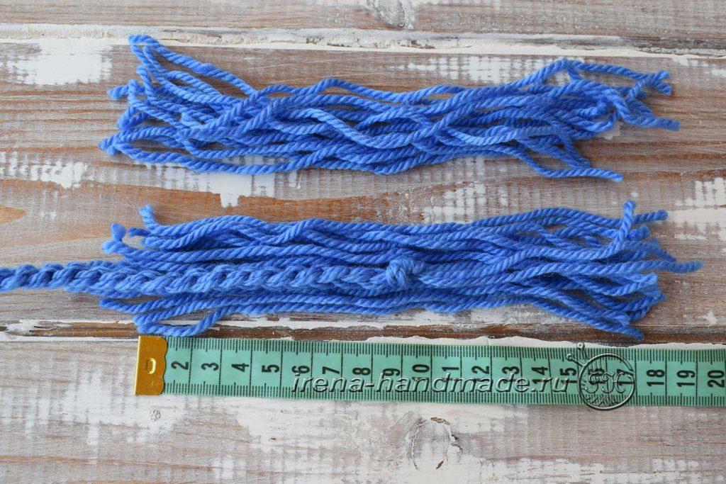 Как сделать кисточки из пряжи - узелок 2