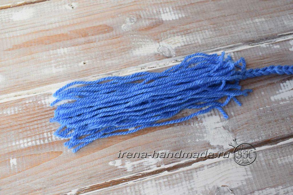 Как сделать кисточки из пряжи - узелок 3