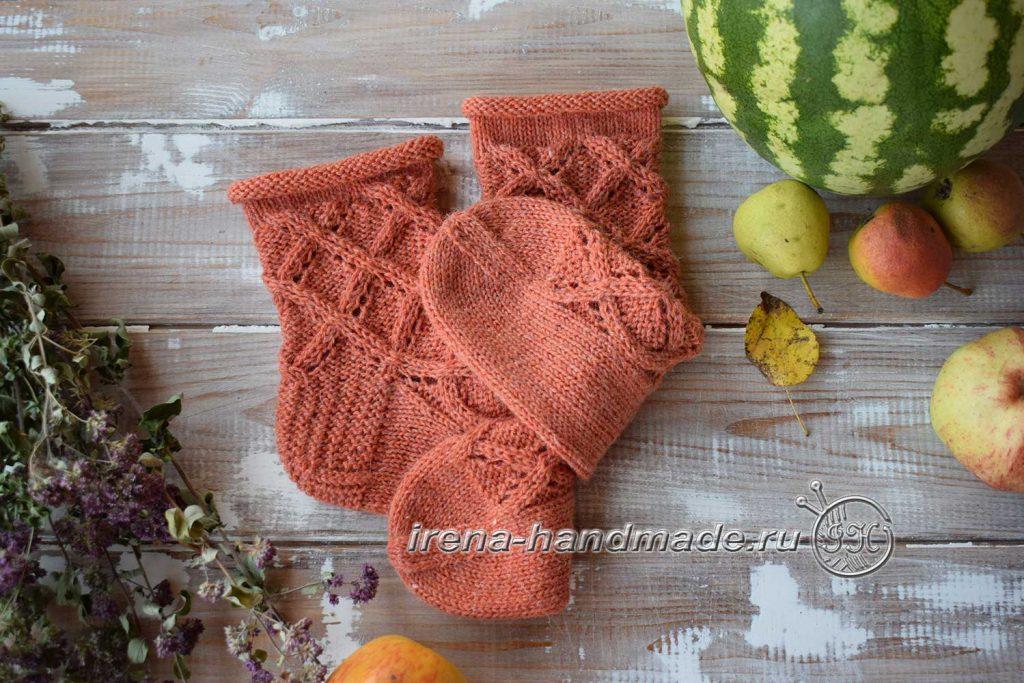 Ажурные носки «Осенний блюз» - итог 2
