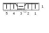 Мелкий ажурный узор «Осенний блюз» - условные обозначения