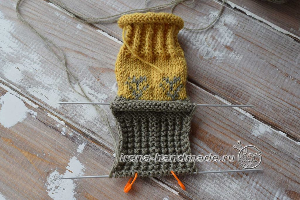 Носки с жаккардовым узором - стенка пятки 1
