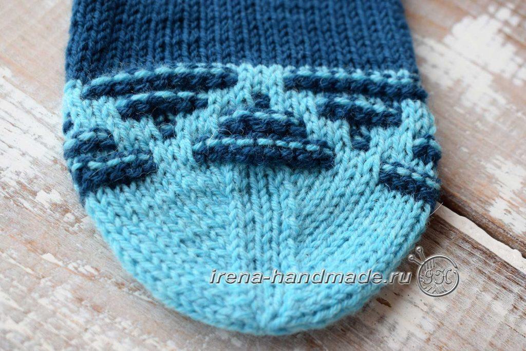 Носки «Вираж» ленивым жаккардом - мысок