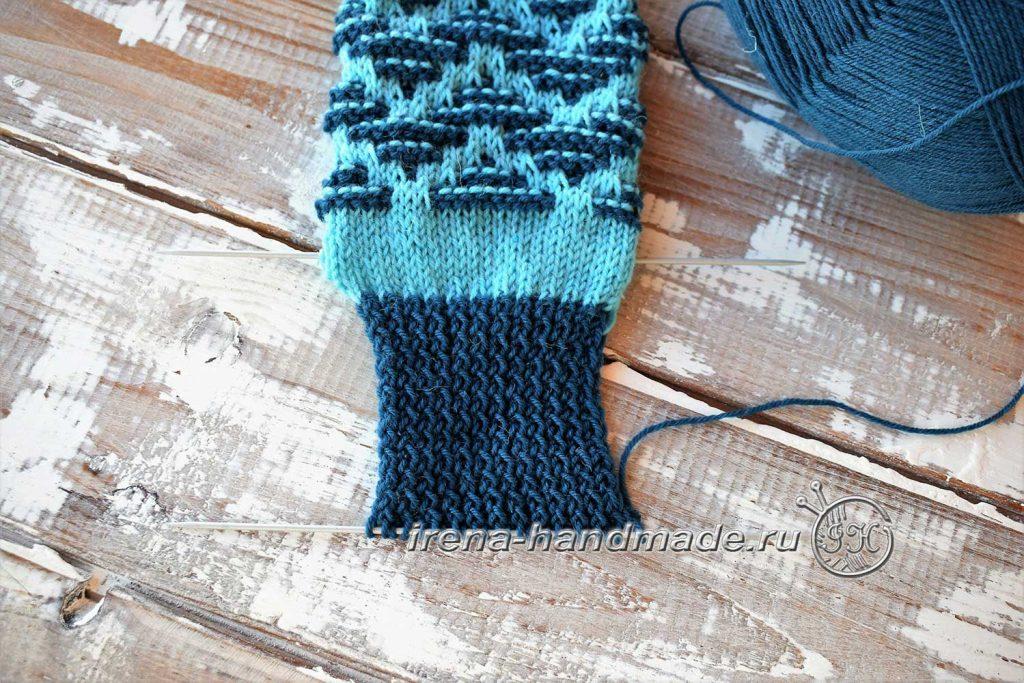 Носки «Вираж» ленивым жаккардом - стенка пятки