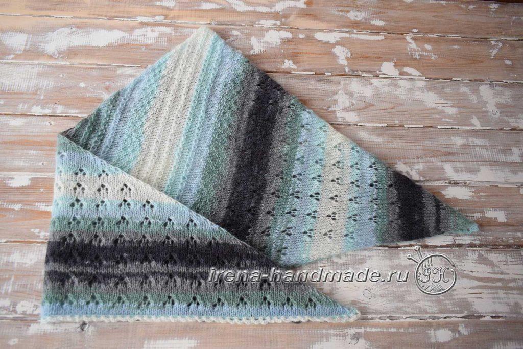 Скандинавский платок «Морской бриз» - итог