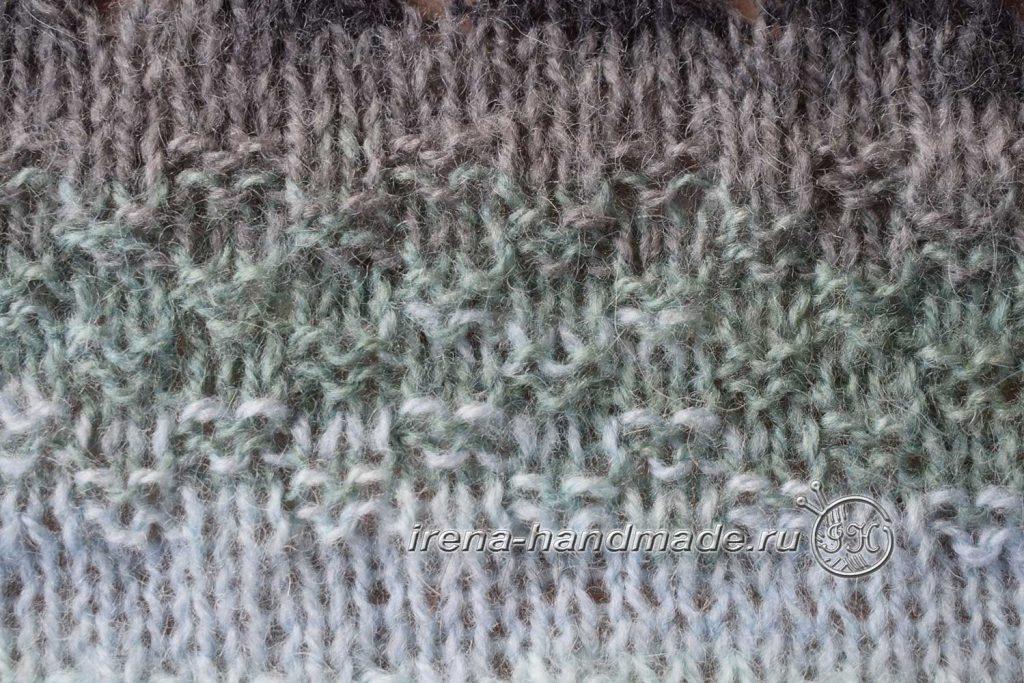 Скандинавский платок «Морской бриз» - рельефный узор «Шахматка»