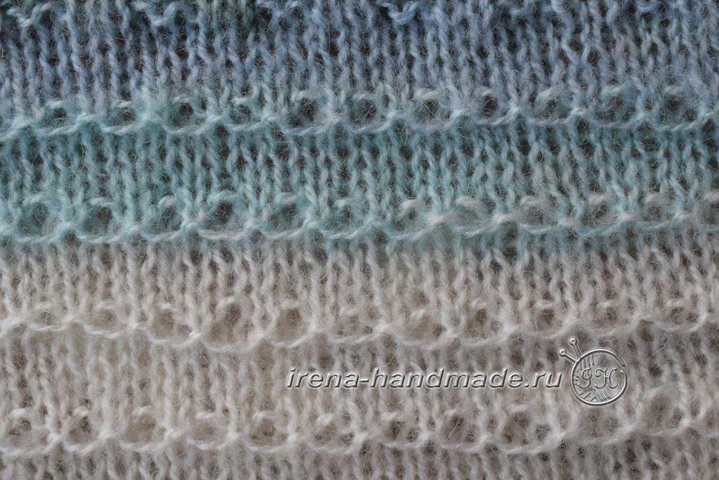 Скандинавский платок «Морской бриз» - «Волшебная цепочка»