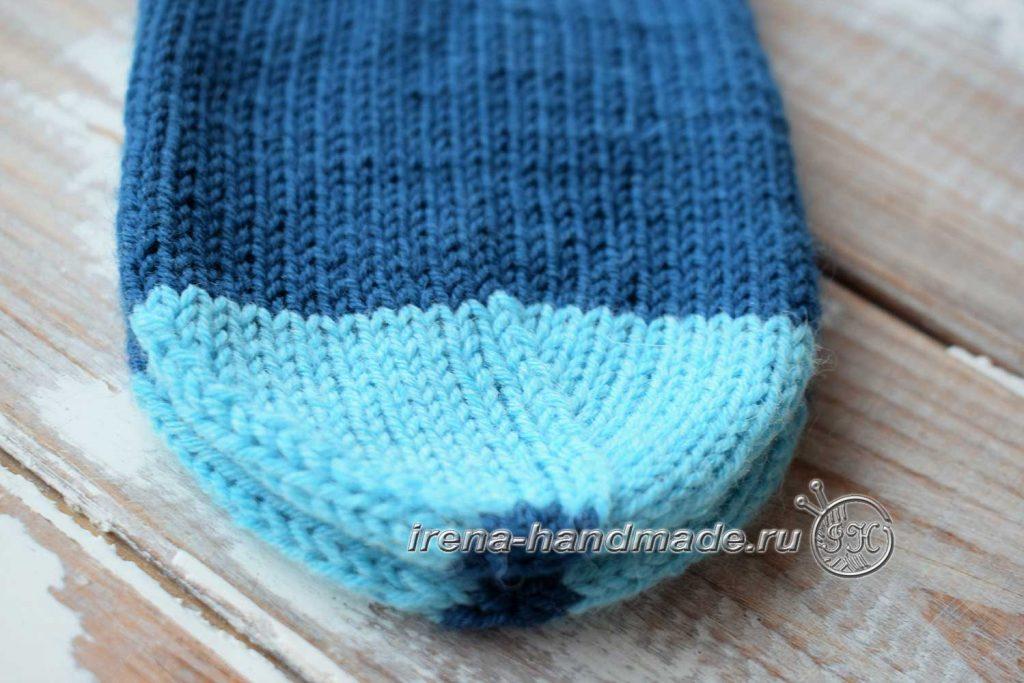 Носки с ажуром «Морозко» - мысок