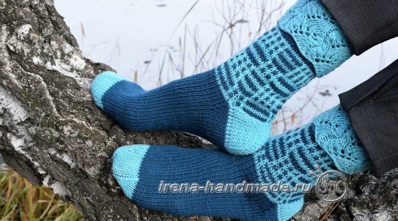 Носки с ажуром «Морозко» - основное фото