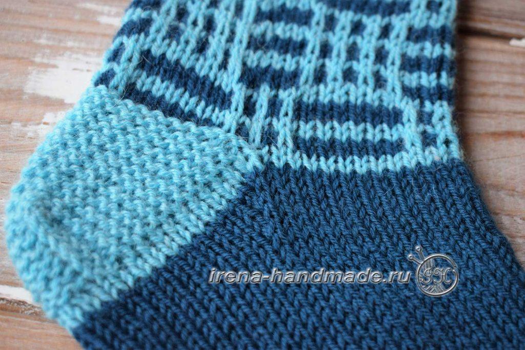 Носки с ажуром «Морозко» - пятка