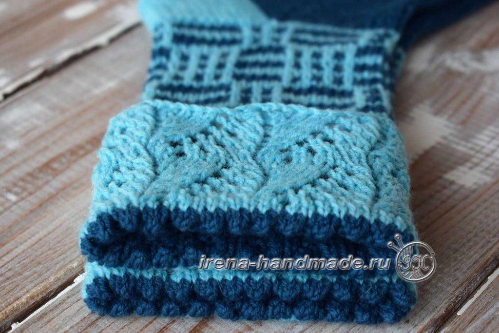 Носки с ажуром «Морозко» - сгиб 2