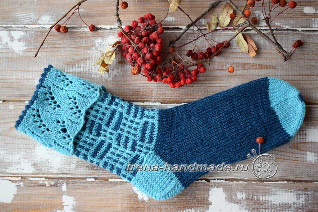 Носки с ажуром «Морозко» - влажная обработка