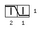 Варежки «Мускат» с индийским клином - обозначение 2 влево
