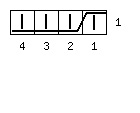Варежки «Мускат» с индийским клином - обозначение 4 вправо