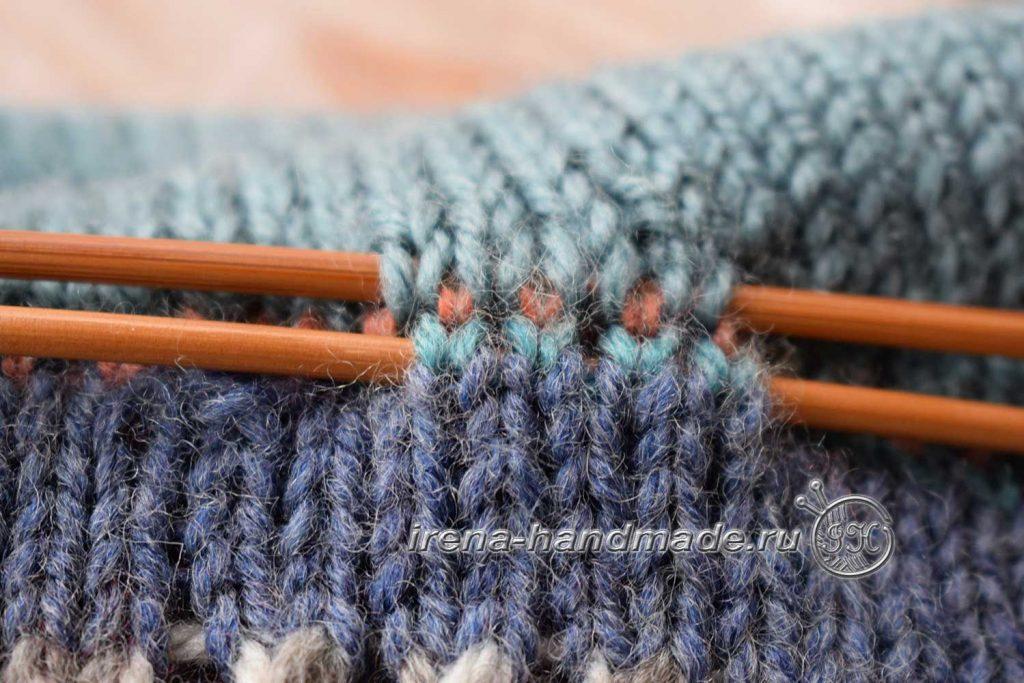 Двойная шапка с ушками - шнур 2