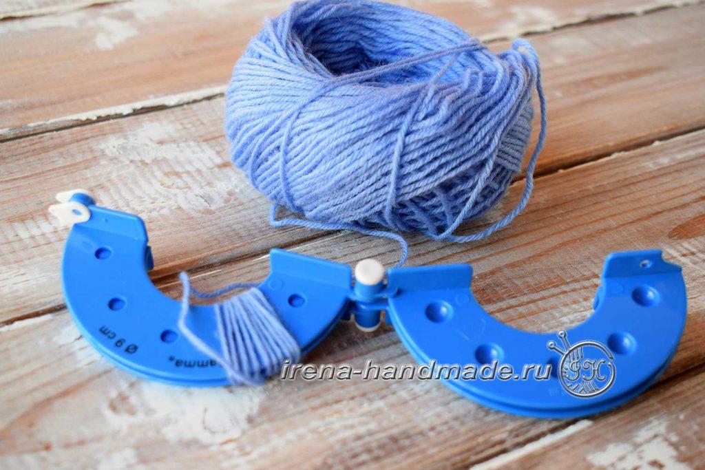 Как сделать помпон из ниток - намотка - 4