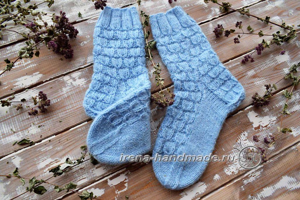 Классические носки с прямой пяткой «Крещенские» - итог