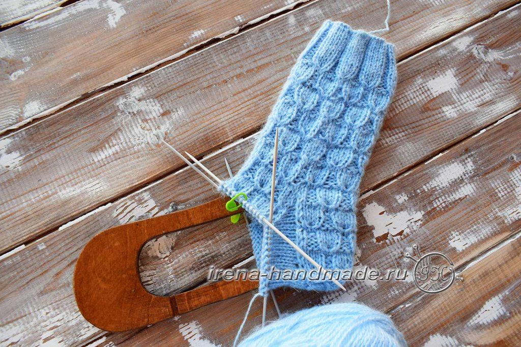 Классические носки с прямой пяткой «Крещенские» - клин 2