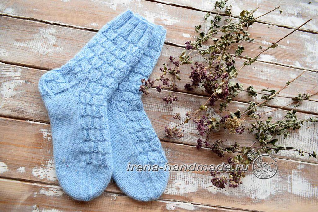 Классические носки с прямой пяткой «Крещенские» - мысок 2