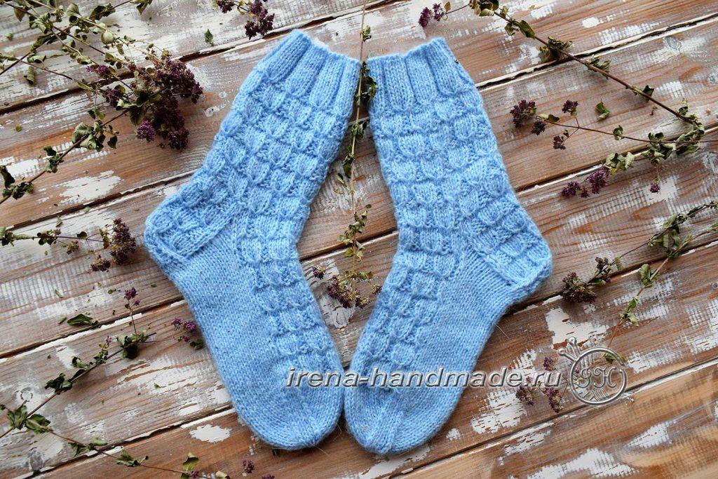 Классические носки с прямой пяткой «Крещенские» - начало 2