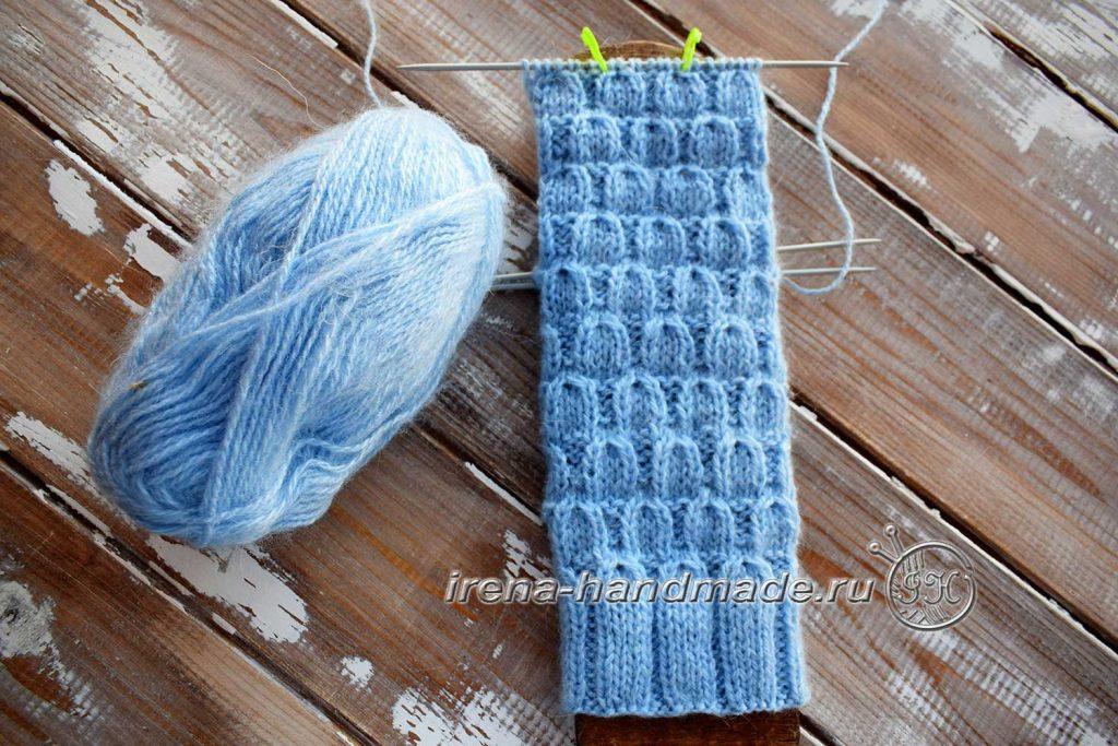 Классические носки с прямой пяткой «Крещенские» - пятка