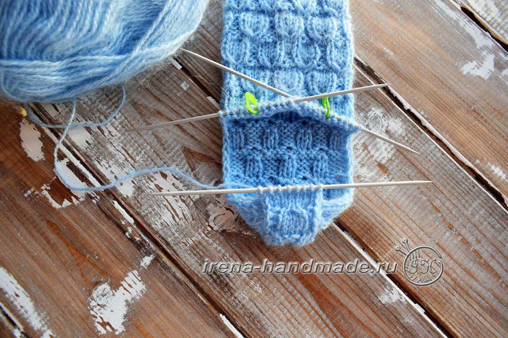 Классические носки с прямой пяткой «Крещенские» - пятка 2