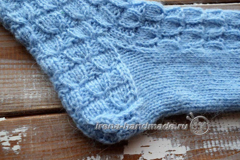 Классические носки с прямой пяткой «Крещенские» - пятка 3