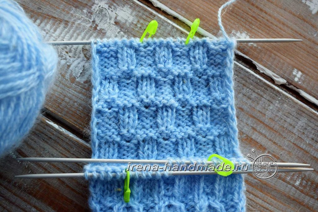 Классические носки с прямой пяткой «Крещенские» - стенка пятки
