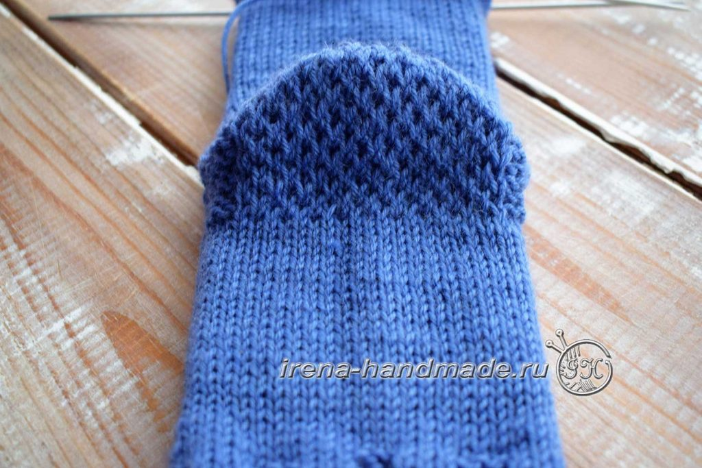 Носки с ажурным узором «Капельки» - пятка «подкова»