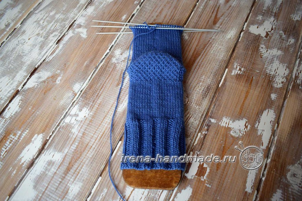 Носки с ажурным узором «Капельки» - пятка «подкова» - 2