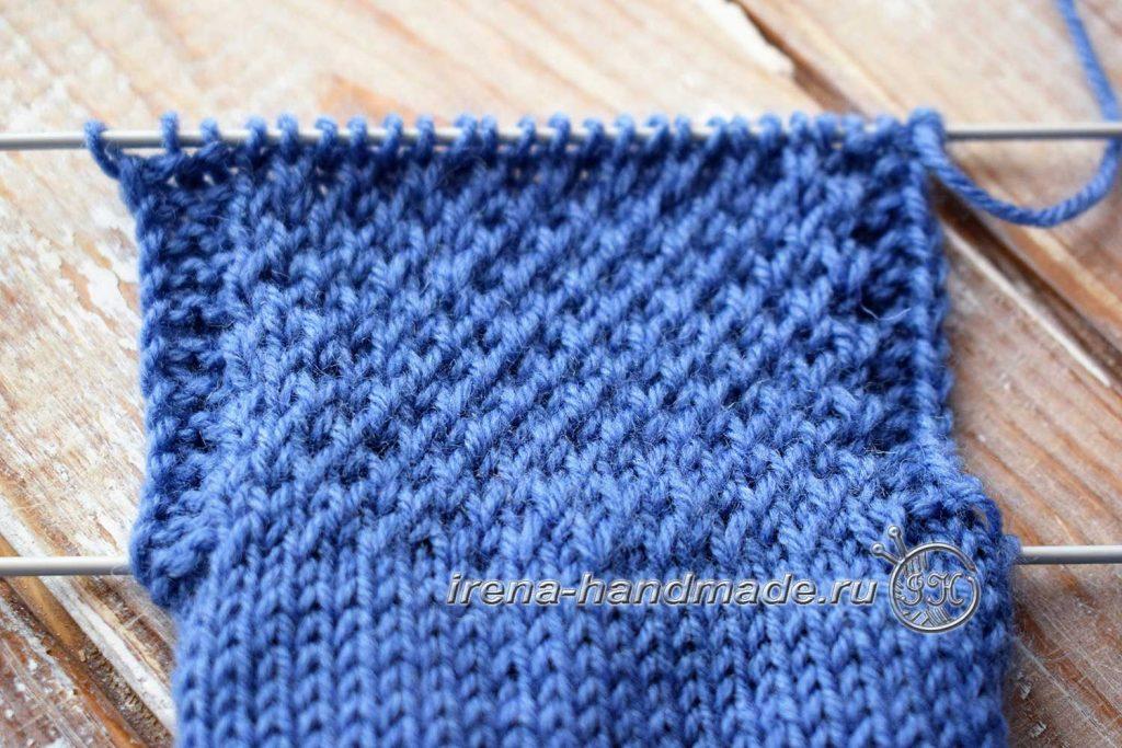 Носки с ажурным узором «Капельки» - стенка пятки