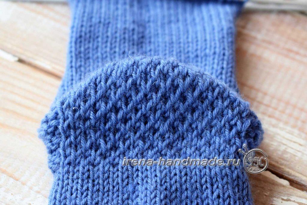 Носки с ажурным узором «Капельки» - узор со снятыми петлями