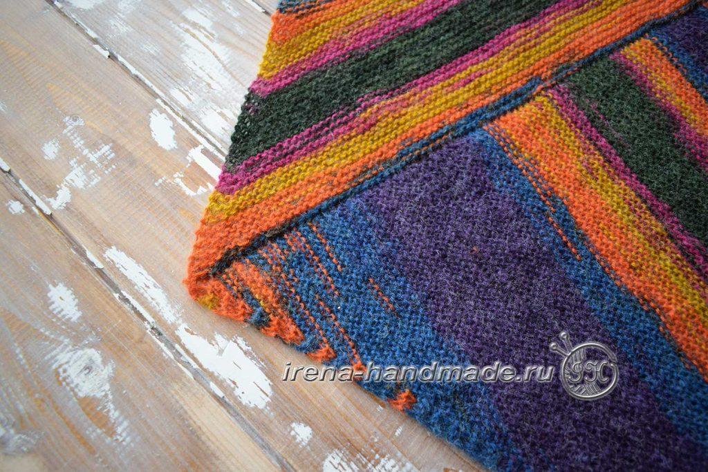 Треугольный платок «Радуга» - уголок платка