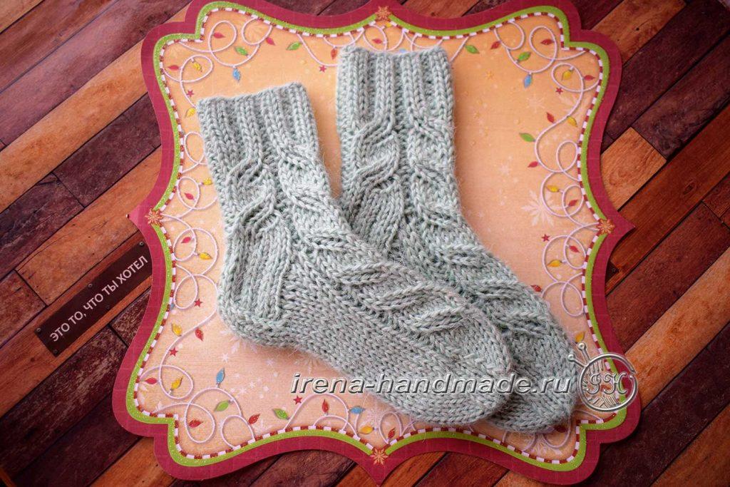 Детские носки с узором - итог