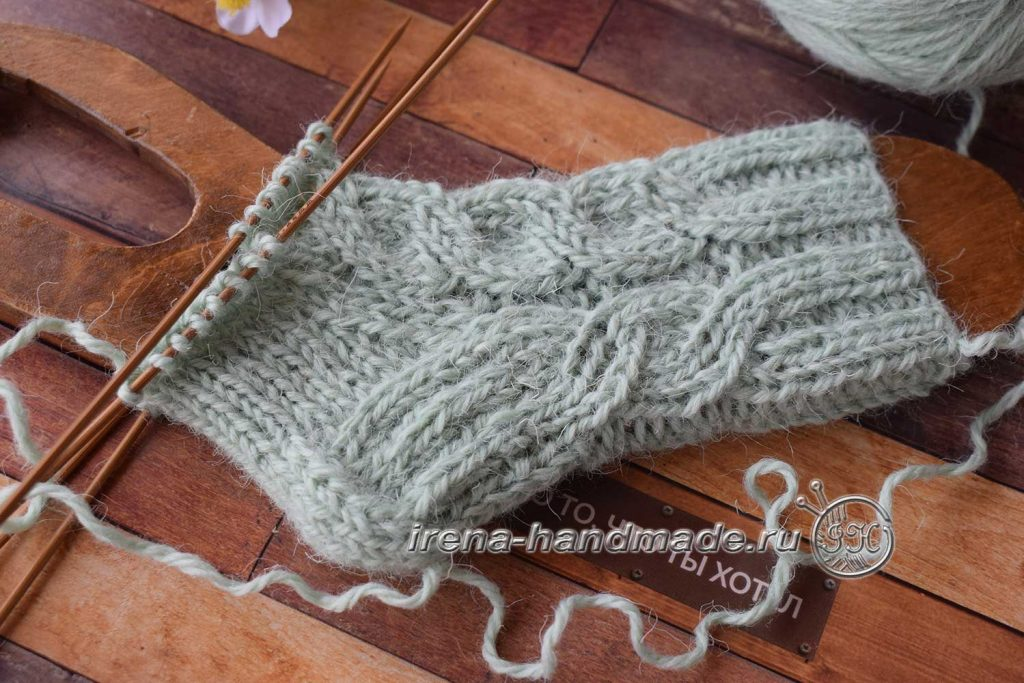 Детские носки с узором - клин подъема