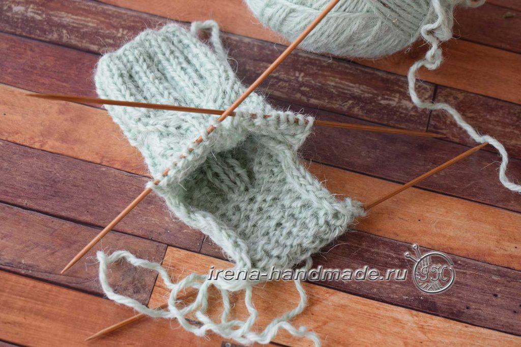 Детские носки с узором - стенка пятки