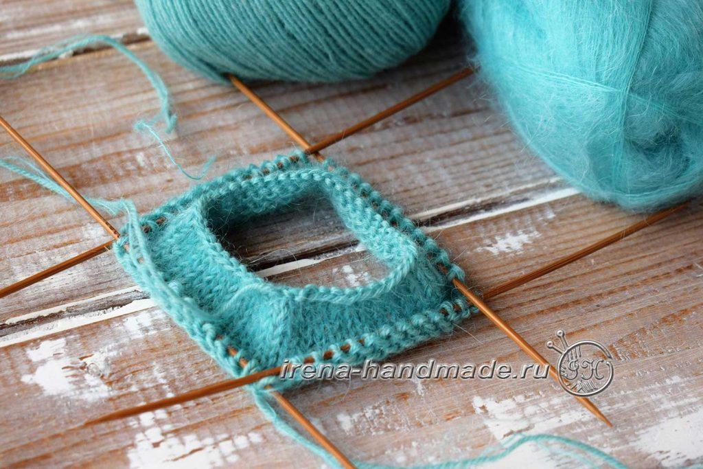 Носки с ажуром «Снежинка» - манжета