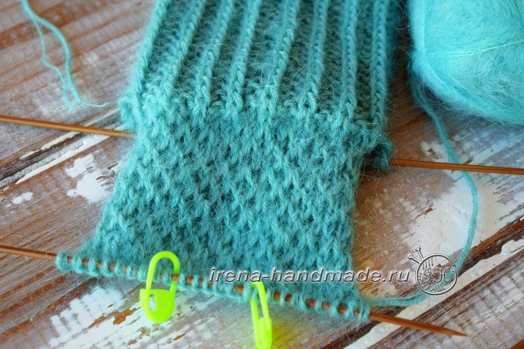 Носки с ажуром «Снежинка» - стенка пятки