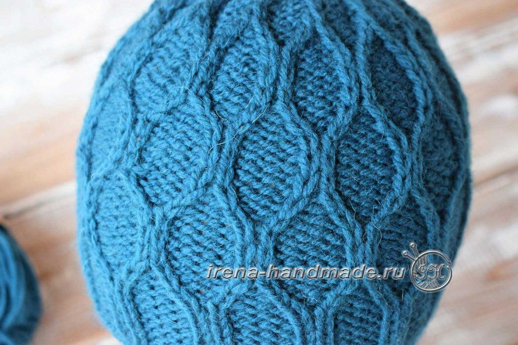 Шапка для мальчика текстурным узором - текстурный узор