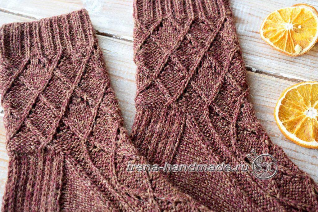 Ажурные носки «Корица» - клин подъема